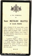 ITALIE - SUOR METILDE MAFFEI - STENICO - MORTE - AVIS DE DECES - Avvisi Di Necrologio
