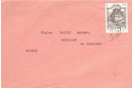 £70 FONTANA SASSARI SU STAMPE - 6. 1946-.. Repubblica