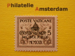 Vatican 1939, 5 C. SEDE VACANTE / OVERPRINT: Mi 73, ** - Vatican