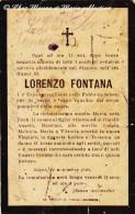 ITALIE - LORENZO FONTANA - SACCO - FABRICANT DE TABAC FABBRICA TABACCHI - MORTE - AVIS DE DECES - Décès