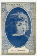 BETTY COMPSON - Cinema Actress, Card 14.0 X 9.0 Cm.  NOT POSTCARD, Spain, Novela Intima Cinematografica  ( 2 Scans ) - Schauspieler
