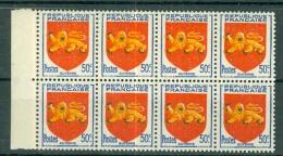 FRANCE - N° 835** MNH LUXE Bloc De HUIT ARMOIRIE DE GUYENNE - France