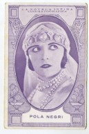 POLA NEGRI - Cinema Actress, Card 14.0 X 9.0 Cm.  NOT POSTCARD, Spain, Novela Intima Cinematografica  ( 2 Scans ) - Schauspieler