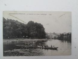 "SARREGUEMINES HANWEILER  La Traversée De La Sarre "" Schiffnickel""  1923 - Sarreguemines"