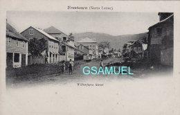 Afrique - SIERRA LEONE - FREETOWN - WILBERFORCE STREET - Carte Pionnière Animée. -  ((voir Scan). - Sierra Leone