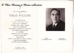 ITALIE - ITALO PICCINI - RIVA BOLZANO - MORTE - AVIS DE DECES - Avvisi Di Necrologio