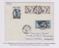 TAAF - Iles Australes - Kerguelen - Galliéni - PA8 - Covers & Documents