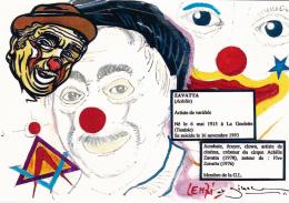 CPM Achille ZAVATTA Clown Cirque Circus Cirk Franc-Maçonnerie Masonic G.L.  Tirage Limité LENZI - Lenzi
