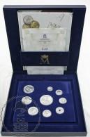 2001 Last Pesetas Set Silver Coins - FNMT Spanish Royal Mint, Box Certificate & Book. - [ 5] 1949-… : Kingdom