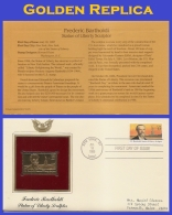 US #2147 ADDR GOLDEN REPLICA FDC   Frederic Auguste Bartholdi - First Day Covers (FDCs)