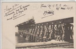 Carte Photo 51 Ligne 9 Bis - Train RER 2 Du 25 Mai 1917 - Estacade Sur La Marne Et La Ligne P.A. Avant Coolus - Non Classificati