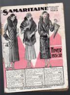 (Paris) Catalogue SAMARITAINE HIVER 1931-32 (CAT 540) - Textile & Vestimentaire