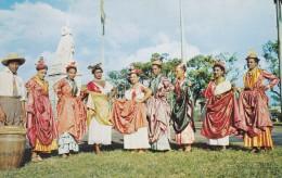 FORT DE FRANCE, Ile De La Martinique; Groupe Folklorique Martiniquais, Ststue De L'Imperatrice Josephine, 1940-60s - Fort De France