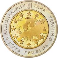 Ukraine, 5 Hryven, 2009, Kyiv, Bi-Metallic, KM:548 - Ukraine