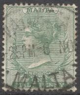 Malta. 1885-90 QV. ½d Used SG 20 - Malta