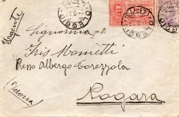 1924 LETTERA ESPRESSO CON ANNULLO OLEGGIO NOVARA + NOGARA VERONA - 1900-44 Victor Emmanuel III.