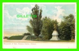 OTTAWA, ONTARIO - MONUMENT OF GEO. ETIENNE CARTIER  - MONTREAL IMPORT CO - - Ottawa
