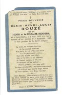 1507 DENIS ROUZE - NEUVE EGLISE 1921 + 1927 - Images Religieuses