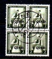 SS3064 - ALBANIA 1942 , Quartina Usata Della Serie N. 280 - Albania