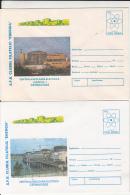 48668- CERNAVODA NUCLEAR POWER PLANT, ATOM ENERGY, COVER STATIONERY, 2X, 1996, ROMANIA - Atome