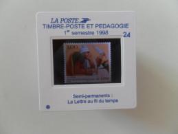 DIAPOSITIVE LA POSTE 24 - 1er Semestre 1998 : LA LETTRE AU FILS DU TEMPS 5 NOUVEAUTE RARE - Diapositivas