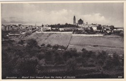 JERUSALEM - MOUNT SION VIEWED FROM THE VALLEY OF  HINNOM - Palestine