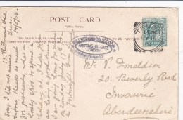 1904 SQUARED  CIRCLE CANCELLATION  -TRURO - Marcophilie