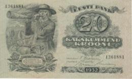 (B0417) ESTONIA, 1932. 20 Krooni. P-64a. UNC - Estonia