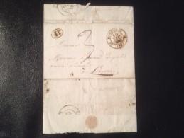LETTRE,1832, POSTE DE DONZENAC,  10 DEC1832,TAMPON 1 D POINT - Non Classificati