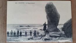 Plozevet.la Plage De Conte.menhir.  Villard N ° 6681 - Plozevet