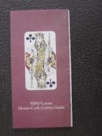 JEU MONACO MONTE-CARLO CASINO GUIDE SBM LOEWS-TAROT-SLOT MACHINES-ROULETTE-BLACK JACK-21-CRAPS - Tarjetas De Casino
