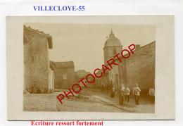 VILLECLOYE-CARTE PHOTO Allemande-Guerre 14-18-1 WK-FRANCE-55- - France