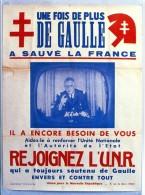 Thème Général De Gaulle - De Gaulle Sur Les Murs De France - N° 72 - R 2452 - Uomini Politici E Militari