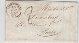 FP167 / FRANKREICH -  Rechnung Von Armentieres Nach Paris 1843 - Poststempel (Briefe)