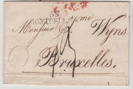 FP170  33, /  FRANKREICH - Montpellier 1821 Nach Brüssel - Marcophilie (Lettres)