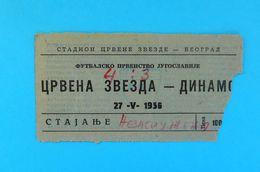 FK CRVENA ZVEZDA ( FC Red Star Belgrade ) : DINAMO Zagreb - 1956. Yugoslavia Premier League Football Soccer Match Ticket - Eintrittskarten