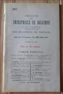 BRUXELLES - Ass. Des Industriels  Accidents De Travail Livret De 50 Pages 1927 - Décrets & Lois