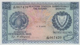 (B0498) CYPRUS, 1973. 250 Mils. P-41b. XF - Chypre