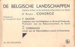 Mapje Met 40 Postkaarten De Belgische Landschappen 2de Reeks Condroz Andenne Hoyoux Houx - Belgique
