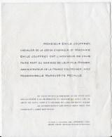 Faire Part Mariage 1959 - Mariage