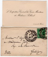 VP5440 - CDV - Carte De Visite & Enveloppe - PARIS - L´Inspecteur Général Du Génie Maritime & Mme POLLARD - Cartes