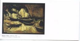 Barques à Yport 1955 - Huile De Jef Friboulet 1919 Fécamp 2003 Yport - Carte Double - Yport