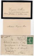 VP5443 - CDV - Carte De Visite & Enveloppe - Eugène MARC Agent Comptable Principal De La Marine - Cartes