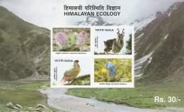 Miniature Sheet On Himalayan Ecology 1996
