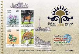 Miniature Sheet On Indepex Asiana 2000 Asian International Philatelic Exhibition
