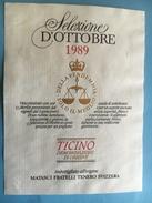 1778 -  Suisse Tessin Selezione D'Ottobre 1989 - Etiquettes