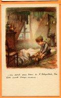 CAL1205, Fantaisie, Illustrateur, Ligue Contre Le Taudis, On Dort Pas Bien à L'hôpital..,fourneau, Dessin, Non Circulée - Non Classificati