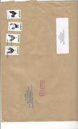 Timbres COQ X4 SUR LETTRE. Oblitération DATAMATRIX INCOMPLETE. Période Ciappa - Marcophilie (Lettres)