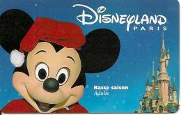 PASS--DISNEYLAND-MICKEY-A DULTE-BASSE SAISON-SPEOS-2000/01/MIK- TB E - France