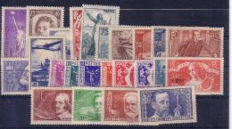 Année 1936 (sans 10Fr Atlantique) Neuve TB ( Y&T N° 309 à 320, Et 322 à 333, Cote : 250€)